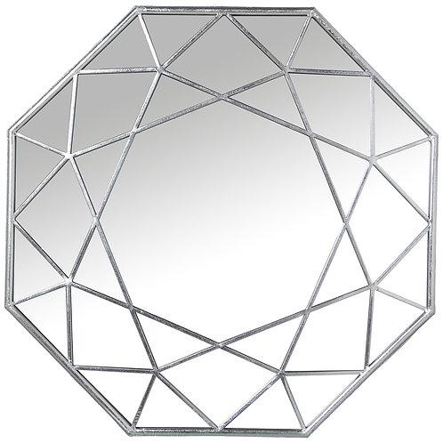 Hexagon Silver Mirror