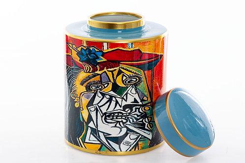 Red blue ceramic