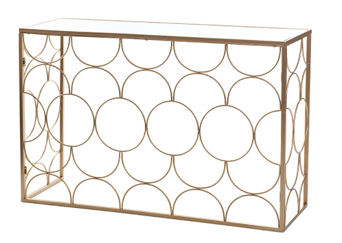 Console Table Gold