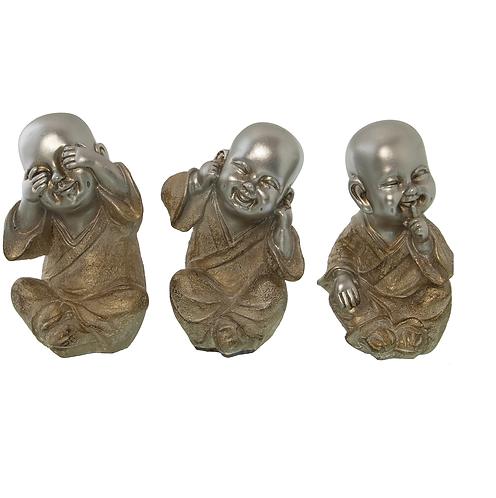 SET OF 3 BABY BUDDHAS