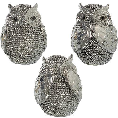 Set Of 3 Owls