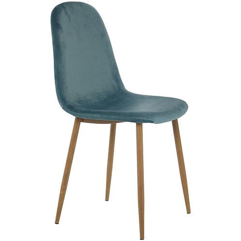 Turquiose Fabric Chair