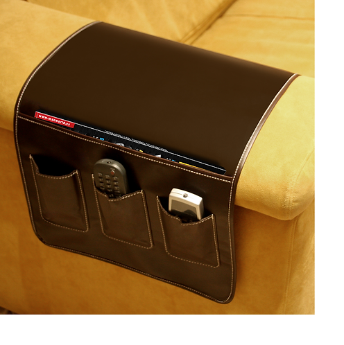 Remote holder leather