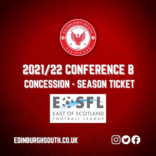 2021/22 Season Ticket - Concession (Over 65 & 16 - 20)