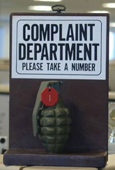 Customer service department of complaints