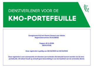 Peppers & co opnieuw met bryo erkend als adviseur binnen de KMO-Portefeuille