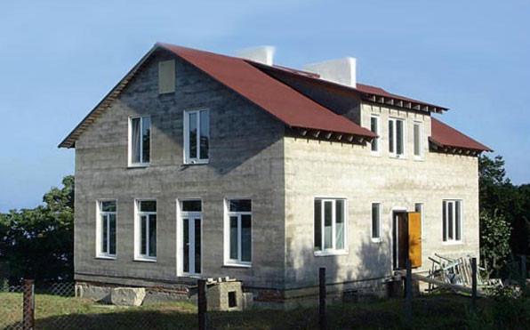 Дом построенный по технологии переставной опалубки