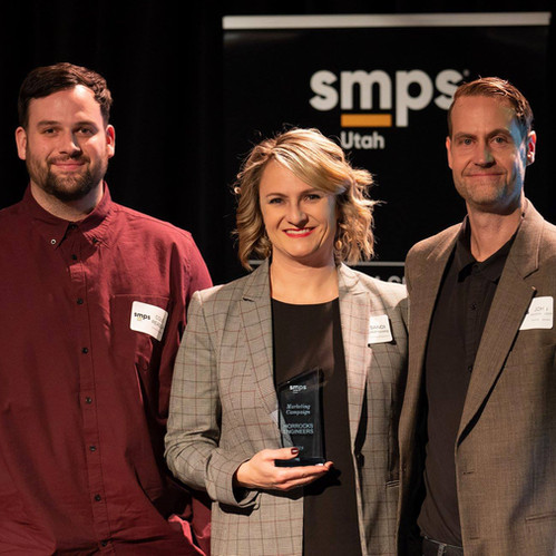 Horrocks' Marketing Team Wins SMPS Utah Cornerstone Award