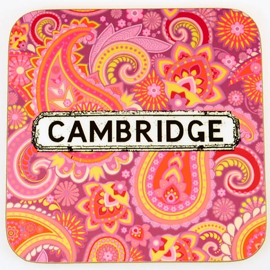 Paisley Coasters Multicoloured (Red) (set of 4)