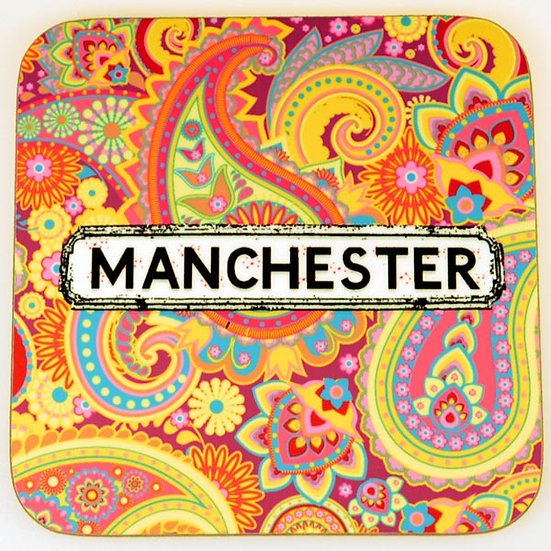 Paisley Coasters Multicoloured (Yellow) (set of 4)