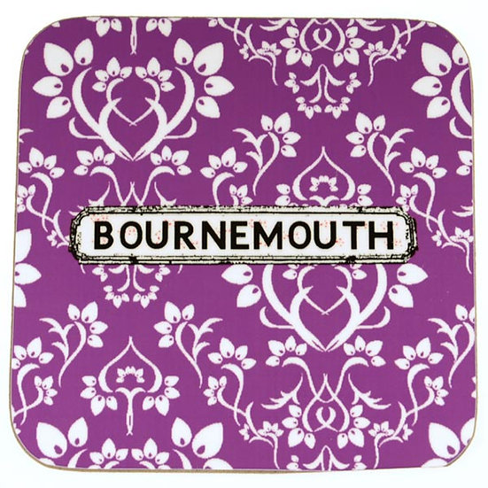Damask Coasters Purple (set of 4)