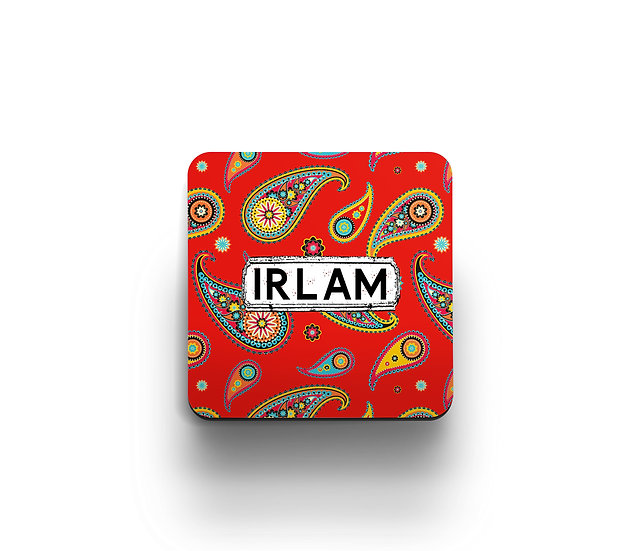 Paisley Coasters (Red) (set of 4)