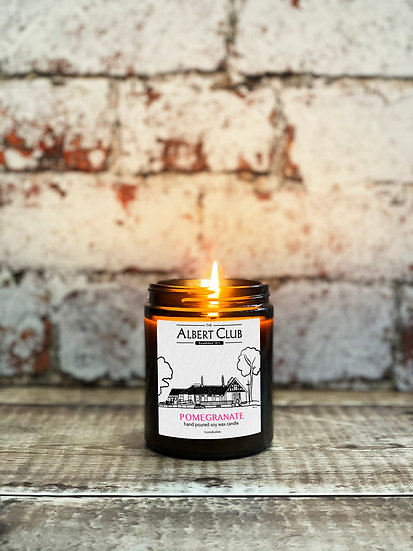 Albert Club Pomegranate Soy Wax Candle