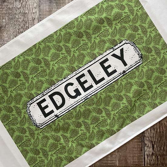 Green Paisley Area Tea Towel