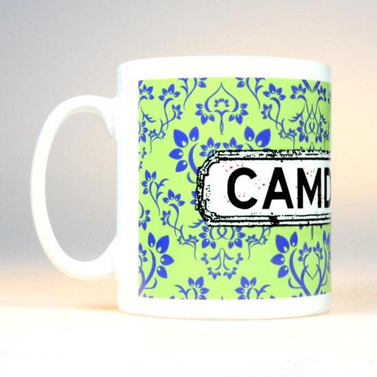Damask Mug Green