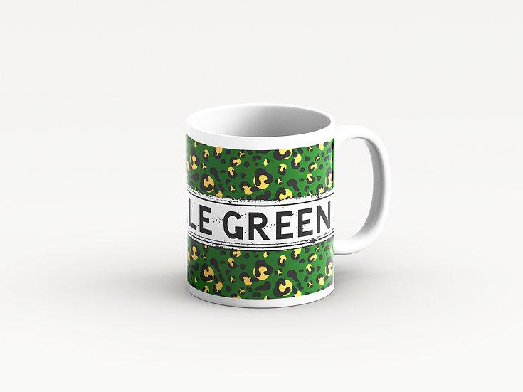 Green Leopard Print Mug