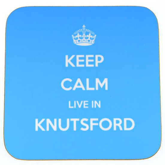 Keep Calm Live In... Coasters Blue (set of 4)