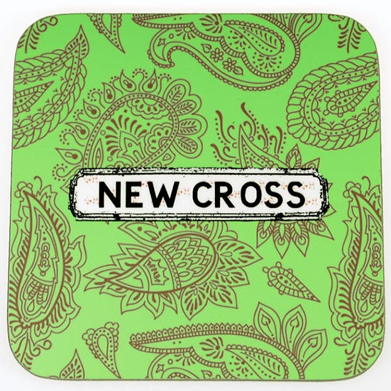 Paisley Coasters Green (set of 4)