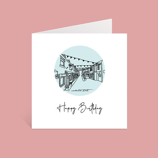Didsbury Warburton Street Birthday Card