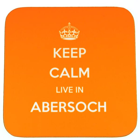 Keep Calm Live In... Coasters Orange (set of 4)