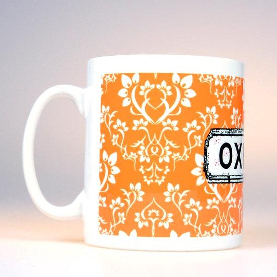 Damask Mug Orange
