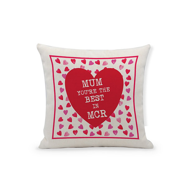 Mum you're the best in... Red Heart Cushion