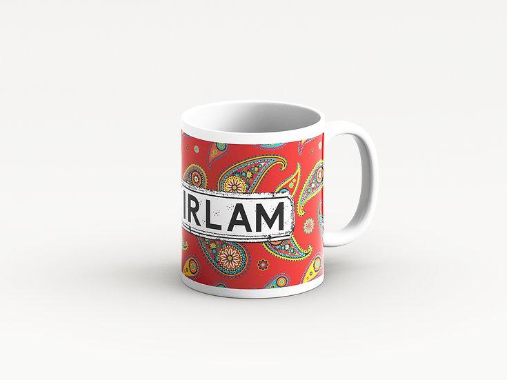 Paisley Mug (Red)
