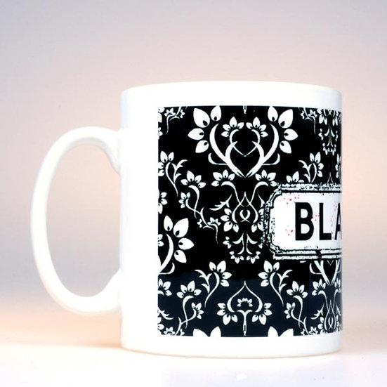 Damask Mug Black