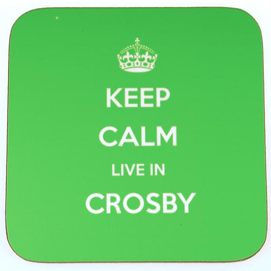 Keep Calm Live In... Coasters Green (set of 4)