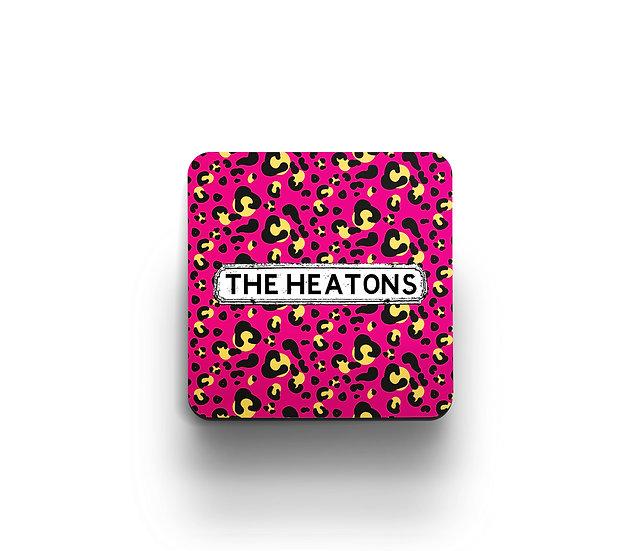 Pink Leopard Print Coasters (set of 4)