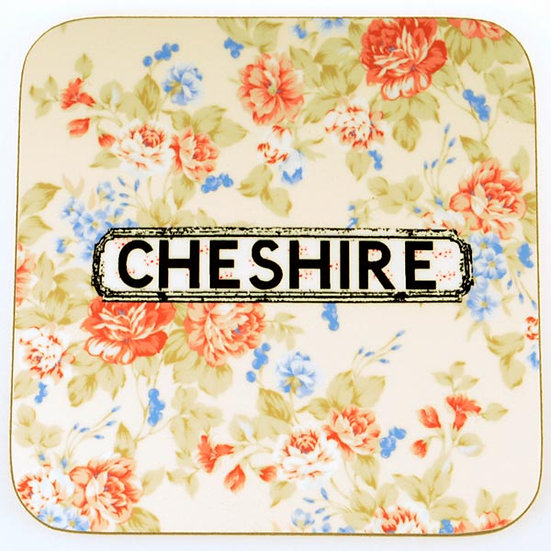Floral Coasters White (set of 4)
