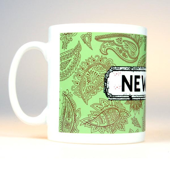 Paisley Mug Green
