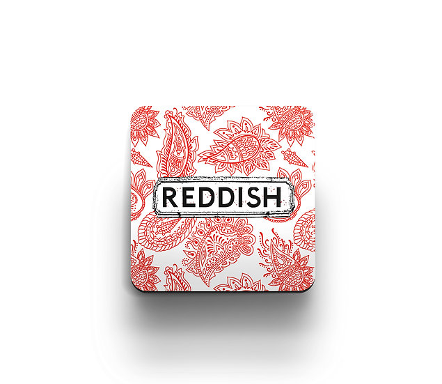 Red and White Paisley Coaster (set of 4)