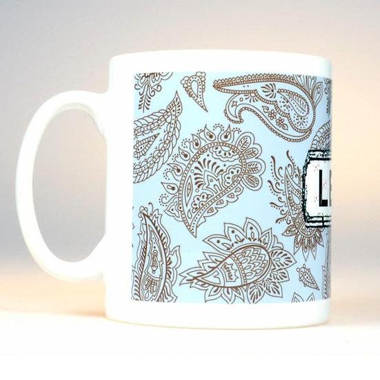 Paisley Mug Blue