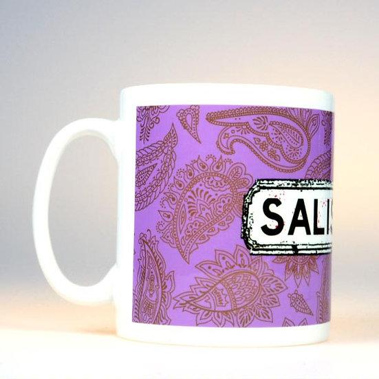 Paisley Mug Purple