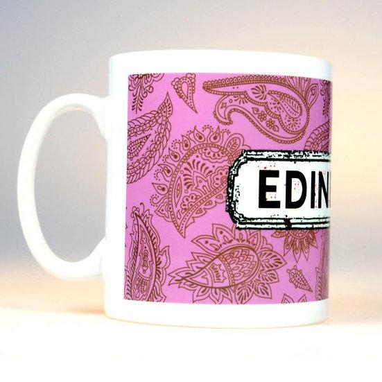 Paisley Mug Pink