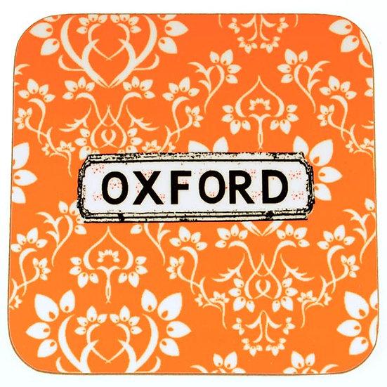 Damask Coasters Orange (set of 4)