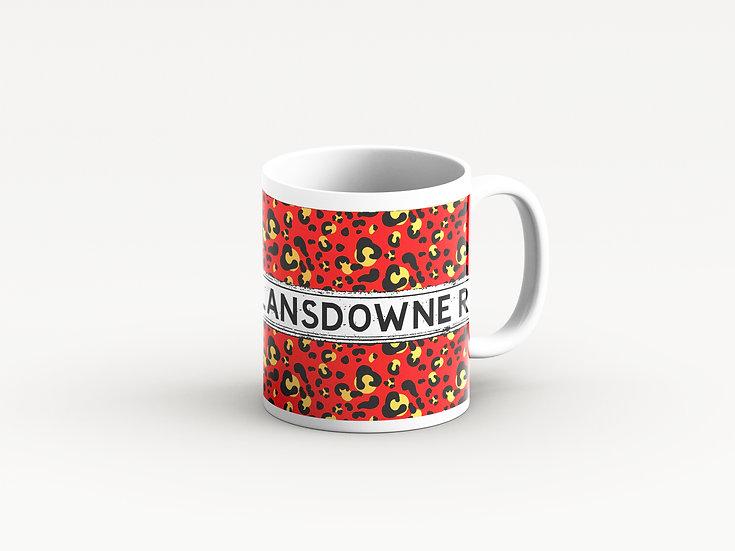 Red Leopard Print Mug