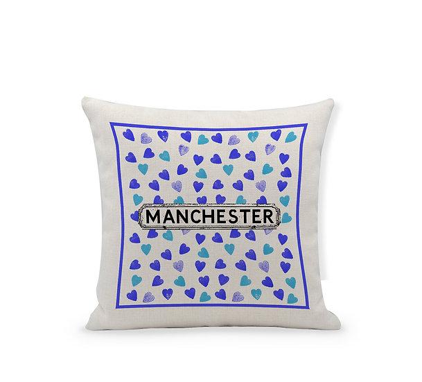 Blue Heart Cushion