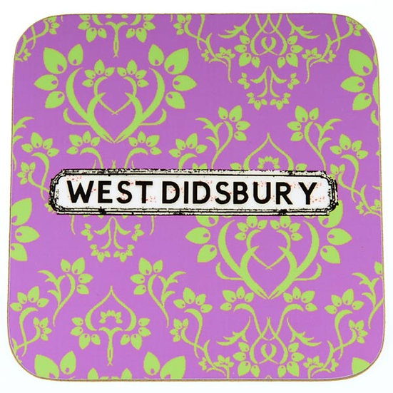 Damask Coasters Purple/Green (set of 4)
