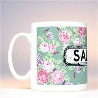 Floral Mug Green