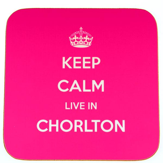 Keep Calm Live In... Coasters Pink (set of 4)