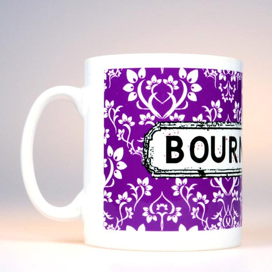 Damask Mug Purple