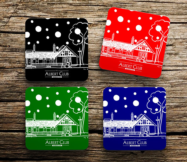 The Albert Club Set of 4 Christmas Coasters