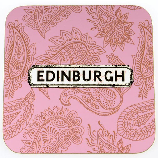 Paisley Coasters Pink (set of 4)