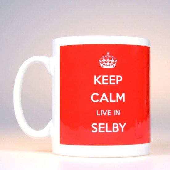 Keep Calm Live In… (Red)