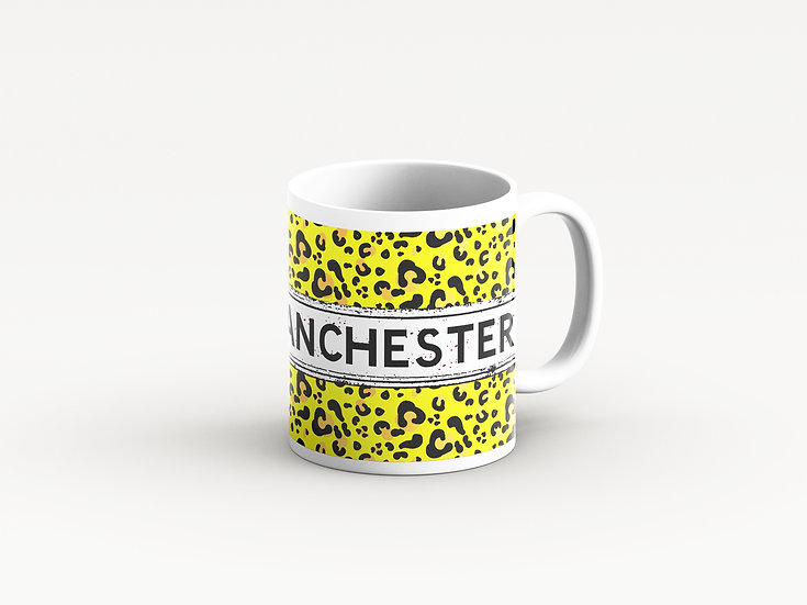 Yellow Leopard Print Mug