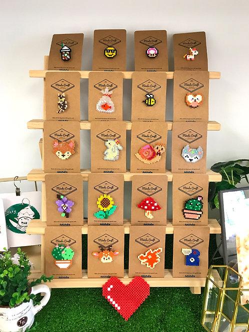 Hama Beads Brooch (Assorted Designs)