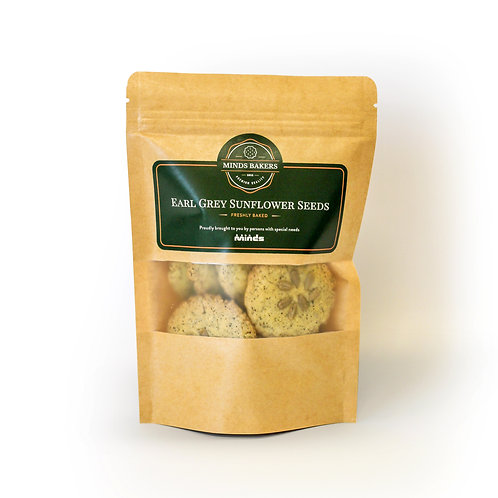 Earl Grey Sunflower Seeds Cookies