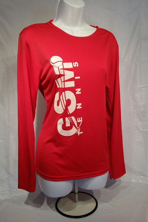 A4 Woman's Cooling Performance Crew L/S Shirt, with GSM Logo